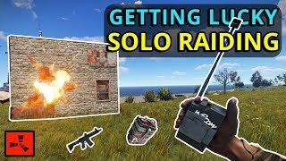RUST SOLO: My LUCKIEST FIND IN 2000 HOURS Gets Me To EPIC SOLO RAIDING!!