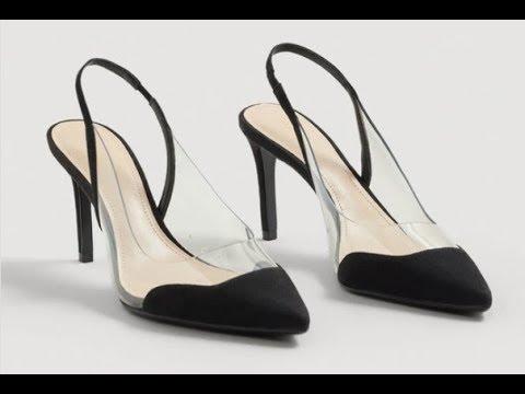 93e6d8ed Giày Cao Gót mũi nhọn 10cm Mango Gardenia đen phối trong suốt |  Muasam24h.info