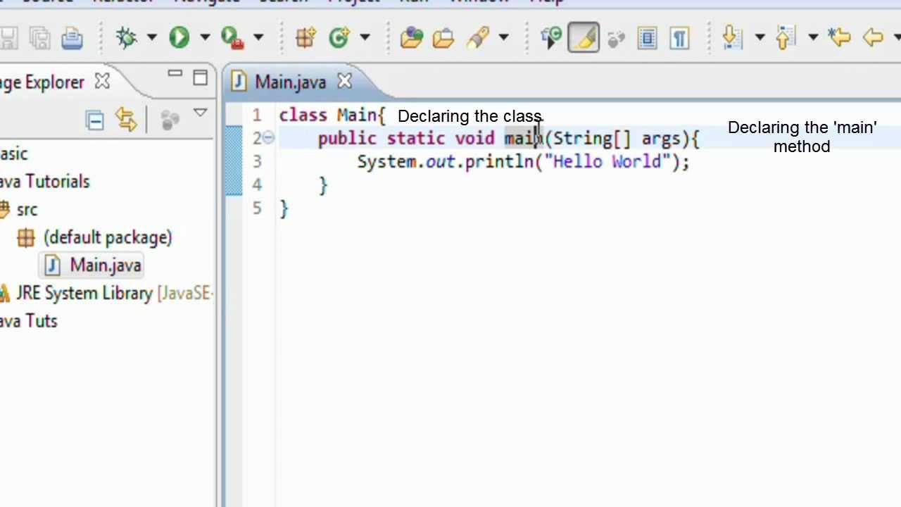 Java tutorial 1 the very first steps youtube java tutorial 1 the very first steps baditri Choice Image
