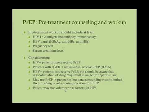 HIV Pre-Exposure Prophylaxis (PrEP) - CRASH! Medical Review Series
