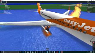 Our Roblox EasyJet a319 Crashed Into The Water...