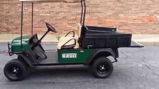 2010 ezgo st sport 400 gas utility vehicle golf cart with dump box lights horn