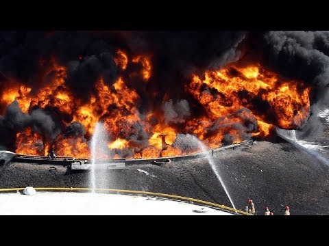 Oil storage tank in Goyang, near Seoul engulfed in flames