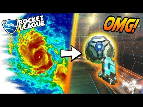 Playing Rocket League DURING a HURRICANE! *Not Clickbait* (Best Goals/Gameplay in Hurricane Irma)