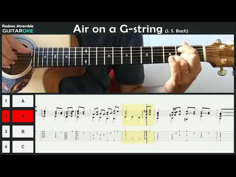 Air On The G String J S Bach  Guitar Tabs & Score