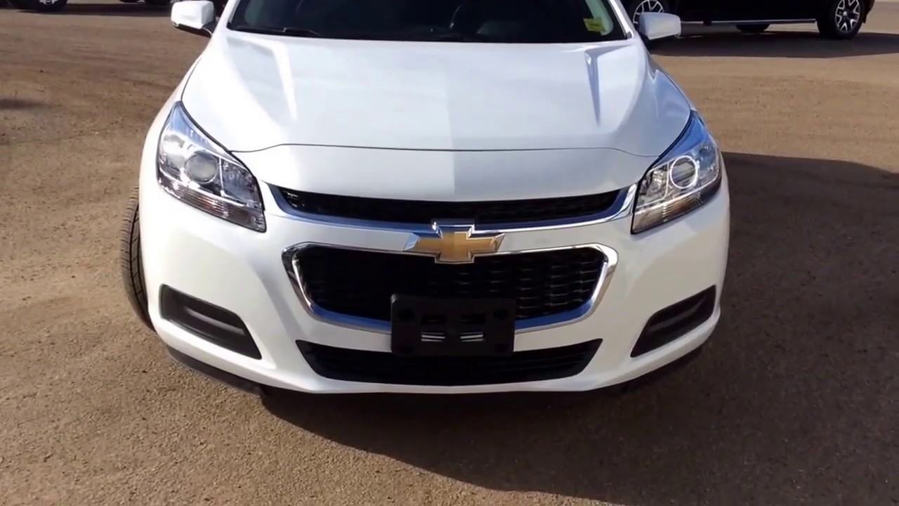 2016 Chevrolet Malibu Lt With Sunroof Remote Start Rear Vision Camera And More