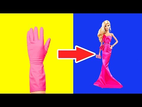 👗 DIY Barbie Dresses | Easy No Sew Clothes for Barbies | BARBIE DOLL HACKS and CRAFTS