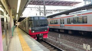 【名鉄3150系+3500系】1511レ急行岐阜行き 3152F+3510F 6両 金山発車シーン