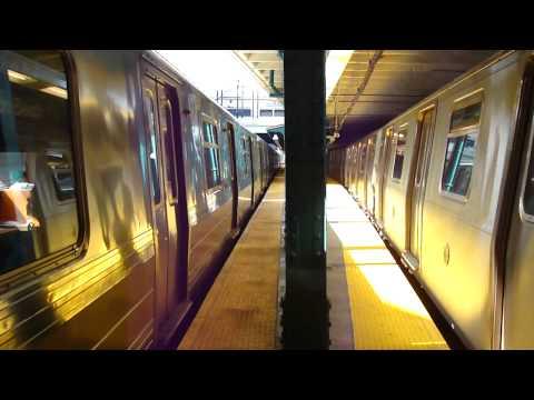 BMT Brighton Line: R68A B Train & R160B Alstom Q Train at Newkirk Plaza