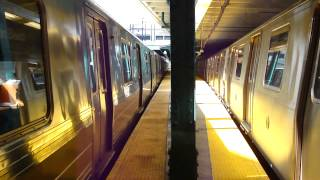 BMT Brighton Line: R68A B Train & R160B Alstom Q Train at Newkirk Plaza
