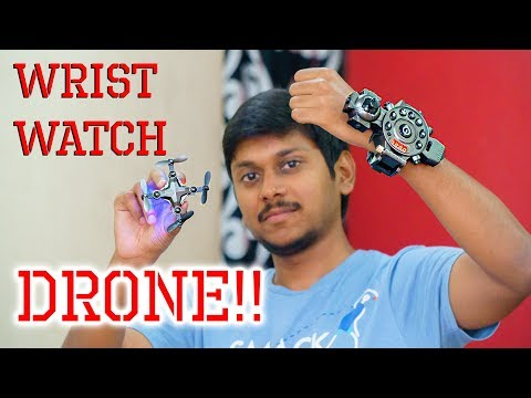 Wrist Watch Camera DRONE!! Awesome Foldable Nano FPV Drone Review