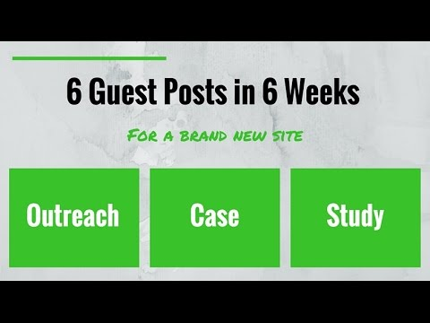 Guest Posting For Niche Sites (Amazon Affiliate Sites)