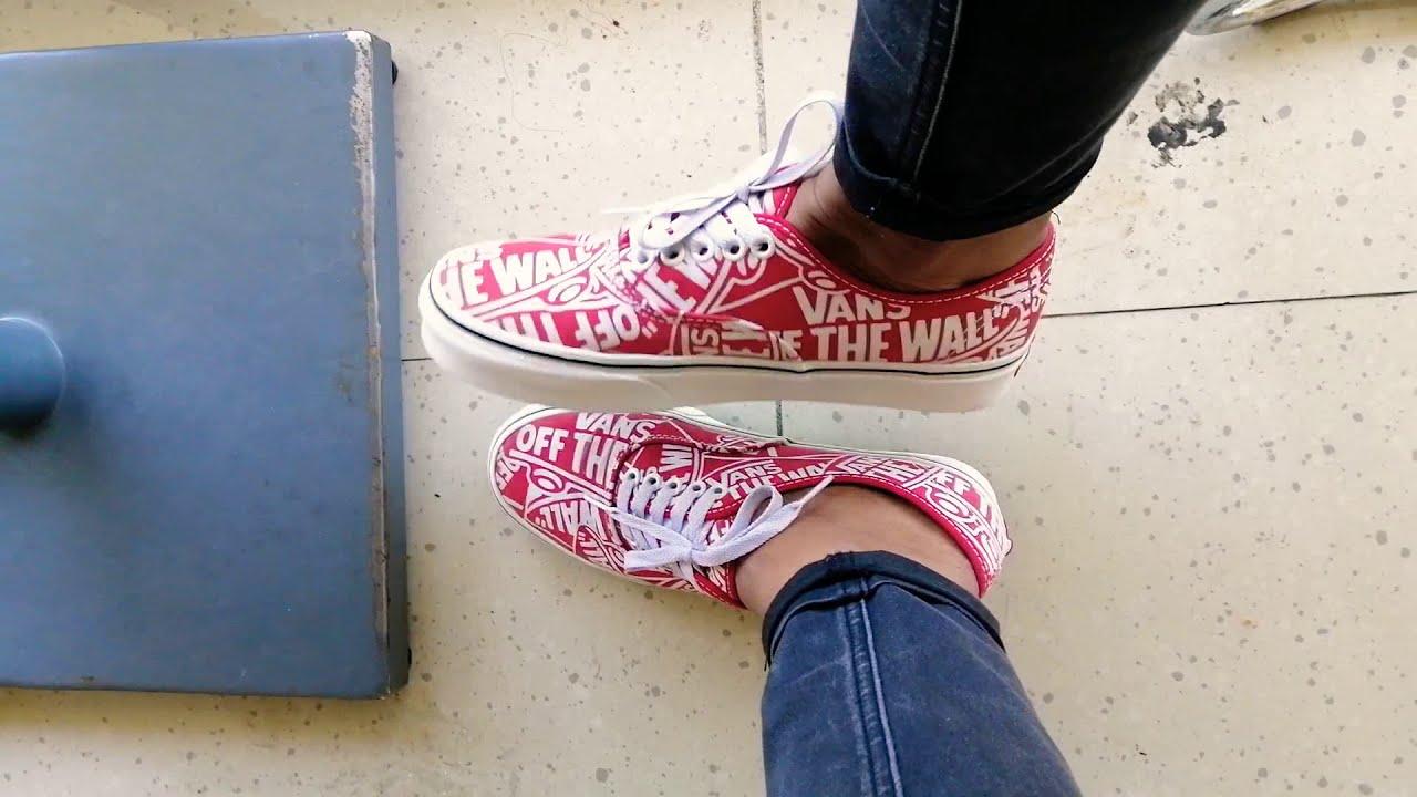 Vans OTW Repeat Authentic Red on Feet