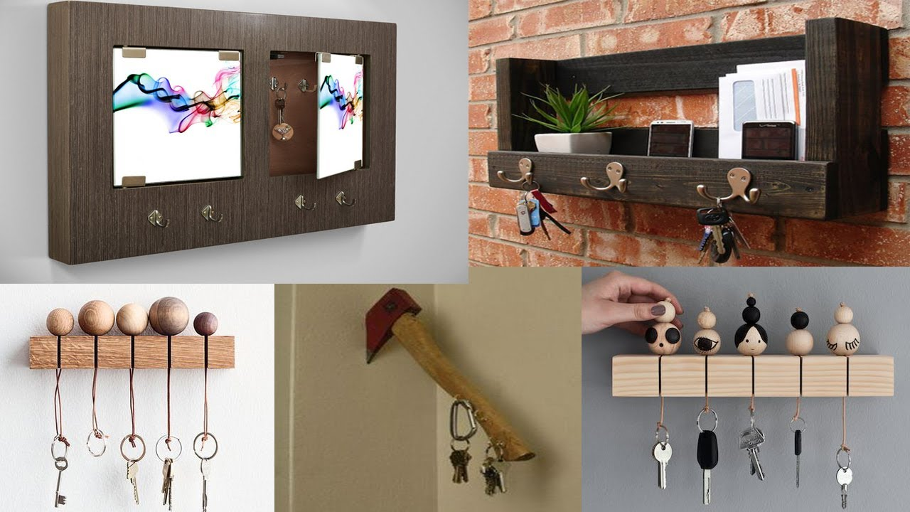 Homemade Wooden Home Decor: DIY Wooden Key Holder For Wall Ideas
