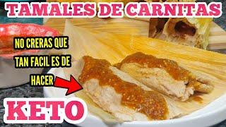 TAMALES DE CARNITAS KETO/ HARINA KETO Para Tamales Y Tortillas / PRODUCTO NUEVO!! REVIEW!!
