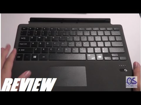 Review Wireless Bluetooth Type Cover For Surface Pro 4 Youtube