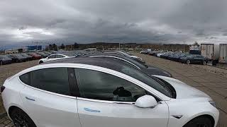 Tesla Model 3 Delivery Parking Lot Switzerland