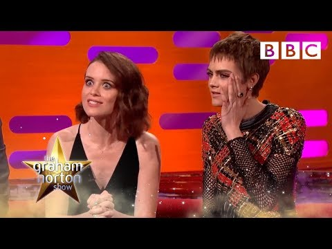 Claire Foy's unusual encounter with a fan in a chip shop -The Graham Norton Show: 2017 - BBC One