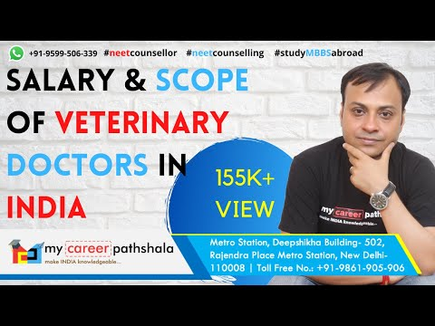 Salary and scope of Veterinary Doctors in India & Abroad