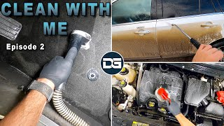 Clean With Me Ep. 2 | Super Dirty Pressure Washing and Carpet Extraction!