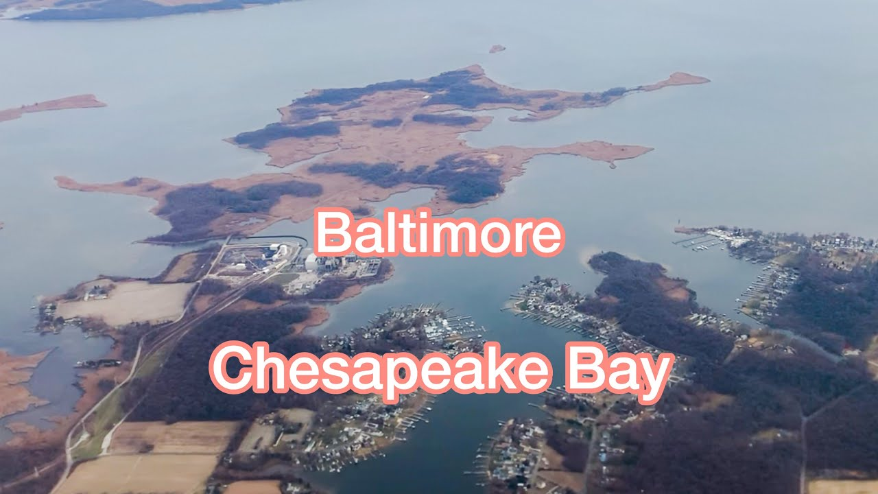 Airplane Landing at Baltimore–Washington International Airport (BWI)