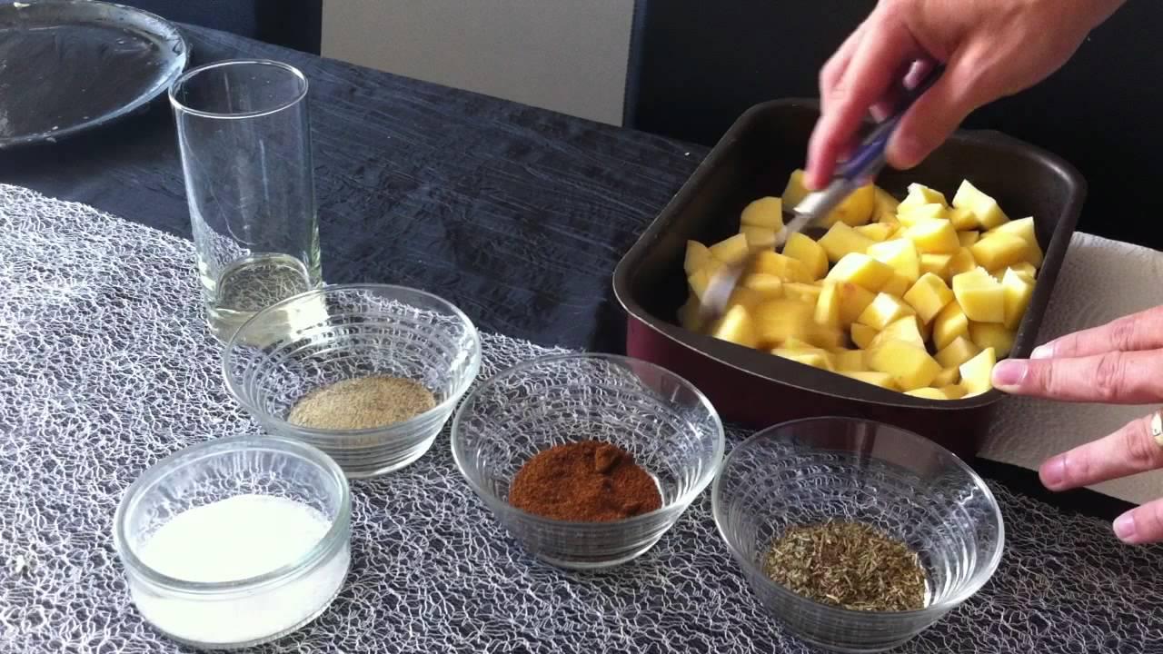 pr parer des pommes de terre au paprika faire un repas familial youtube. Black Bedroom Furniture Sets. Home Design Ideas