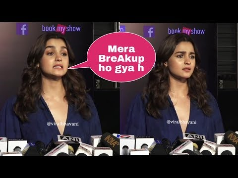 Alia Bhatt crying and Confirms her Breakup with Ranbir Kapoor |Answers about Flop movie