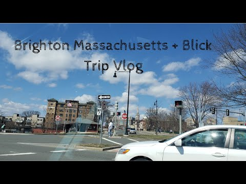Brighton Massachusetts + Blick Trip Vlog