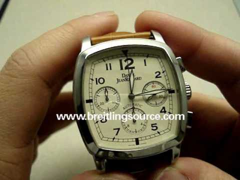 777898a8c09 Daniel JeanRichard TV Chronograph Automatic Watch Review - YouTube
