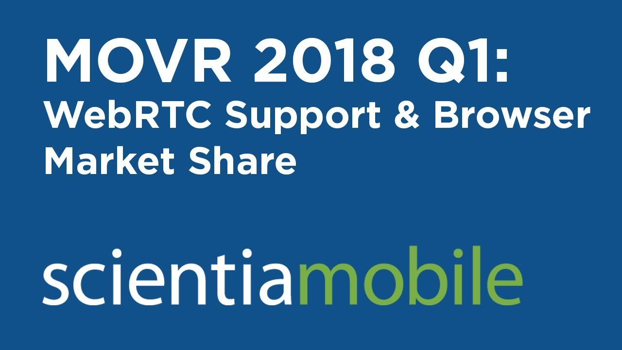 WebRTC Support and Browser Market Share - MOVR 2018 Q1