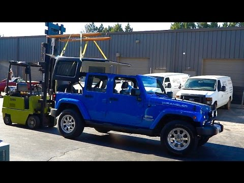 hqdefault how to install your hard top jk jeep wrangler from soft top youtube how to install jeep hardtop wiring harness at creativeand.co