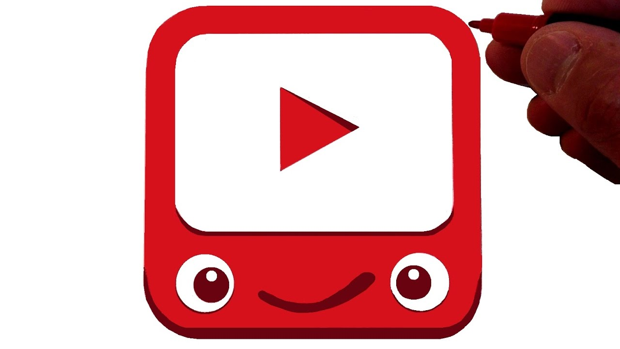 How to Draw the Youtube Kids Logo - YouTube