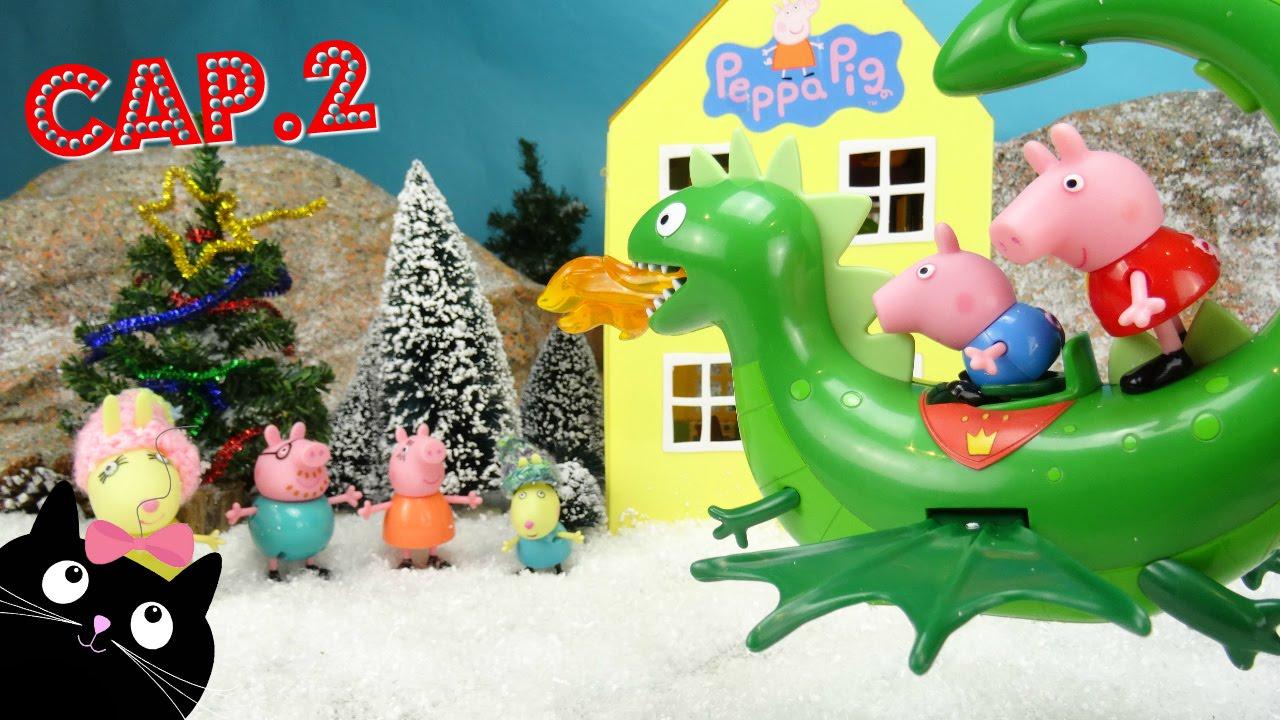 Peppa pig y george pig reciben la visita de pap noel - Peppa cochon noel ...