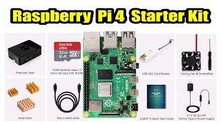 Raspberry Pi 4 ready to GO Starter Kit. Pi 4 + Case + Fan + Micro SD Card & More