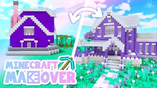 💙PURPLE House Transformation! Minecraft Makeover Ep.4