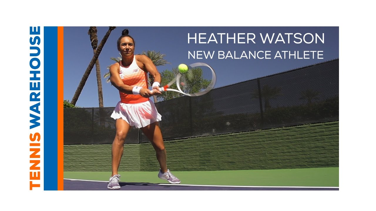 3000439800fc6 Heather Watson showcases New Balance s Spring 2017 Tennis Apparel Shoes