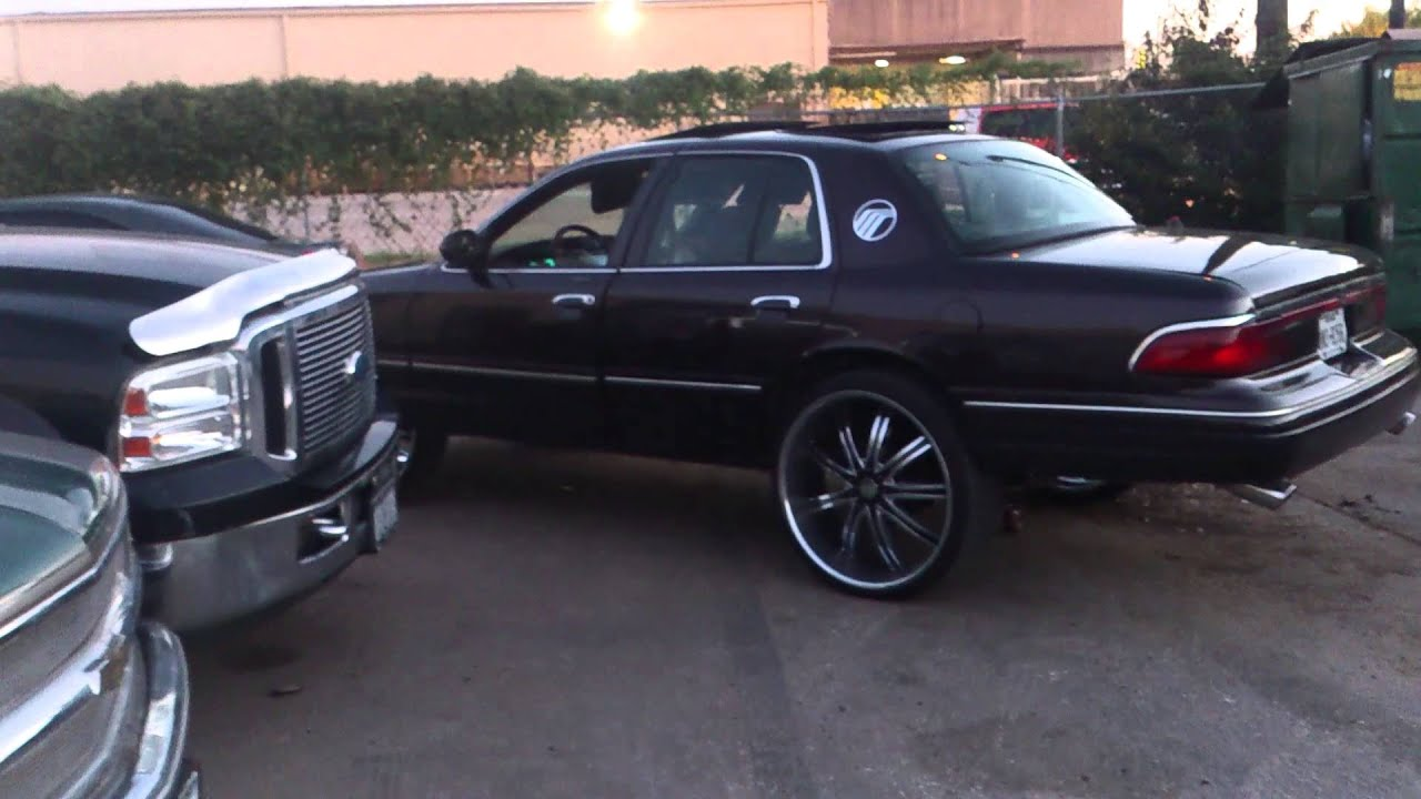 N.O.Whip Game Mercury Grand Marquis on 24s on 26s - YouTube