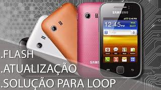 SOLUÇÃO: Samsung Galaxy Y S5360 Não Liga ou Reiniciando na tela SAMSUNG, Boot Loop. G-Tech