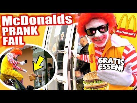McDonalds PRANK FAIL - NICHT BEZAHLEN ALS RONALD! - McDonalds Roulette