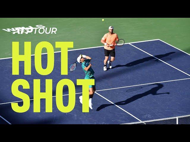 Hot Shot: Marach/Pavic Win Lightning-Fast Net Exchange At Indian Wells 2019