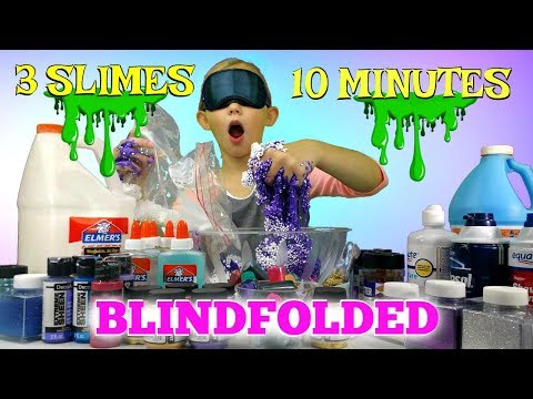 3 Viral SLIMES Tested In 10 MINUTES!!! Blindfolded Slime Challenge!!!