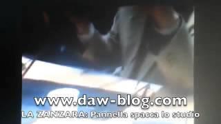 PANNELLA IMPAZZISCE alla Zanzara: distrugge lo studio e manda CRUCIANI AL PRONTO SOCCORSO