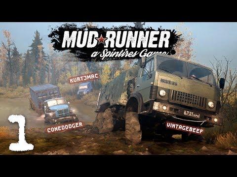 Spintires: Mudrunner Co-op w/ Beef & Cone - 1 - Seashore