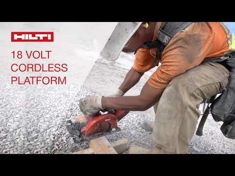 TESTIMONIALS by customers about Hilti's 18V cordless tool platform