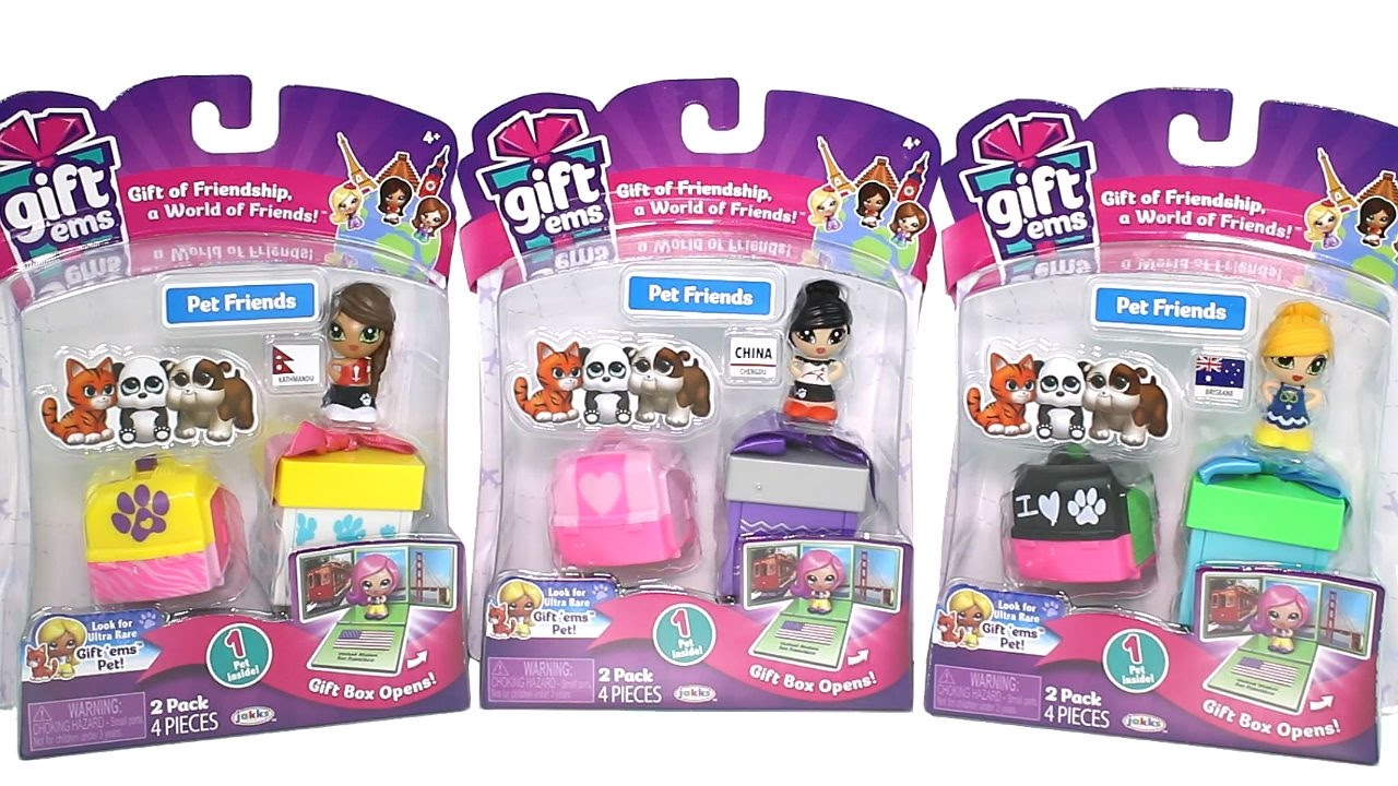 Gift 'Ems Series 2 Pet Friends Packs Unboxing Toy Review - YouTube