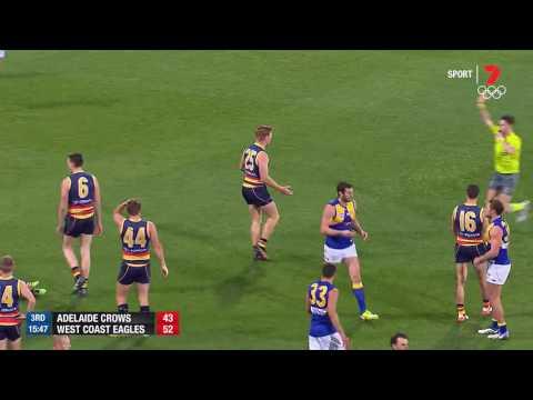 Round 23 AFL - Adelaide v West Coast Highlights