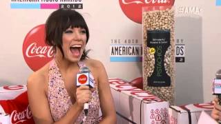 Lance Bass and Eden Sher Interview Carly Rae Jepsen - Coca Cola Red Carpet LIVE! @ the 2012 AMAs