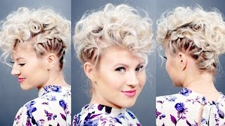 Creative Short Hairstyle: Retro Faux Hawk | Milabu