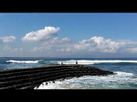 Rough Seas from Kila Senggigi Hotel, Lombok, Indonesia
