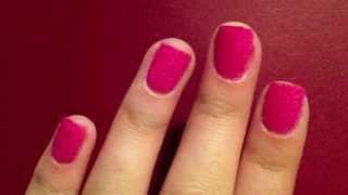 Velvet Manicure Nail Art Tutorial